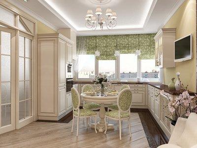 Дизайн кухни в классическом стиле придаст вам статусность.