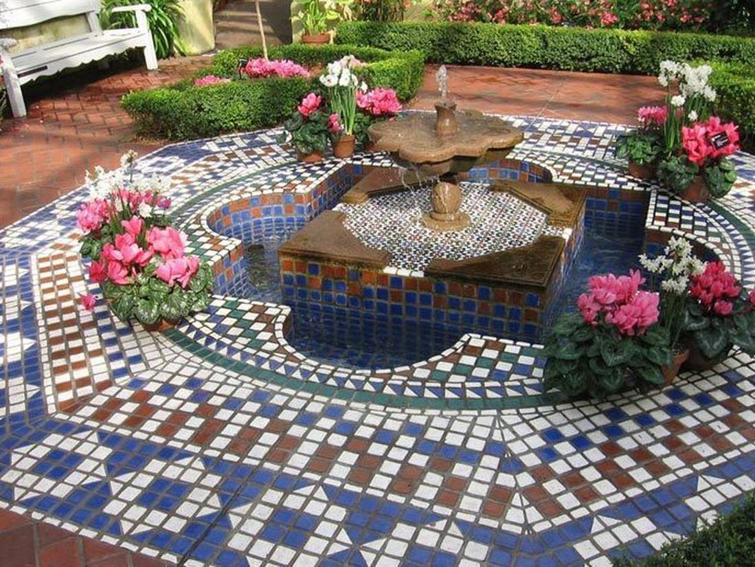 Мозаичное патио в марокканском стиле