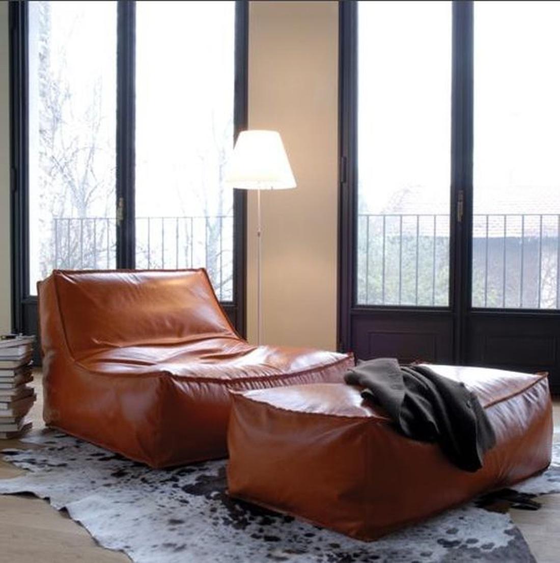 Бескаркасная мебель. Кожа