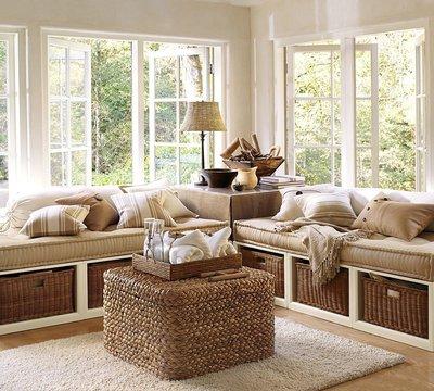 Добавьте в интерьер стильные плетеные корзины для хранения мелких вещей
