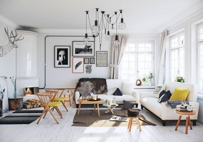 Scandinavian style.
