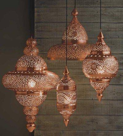 Медные марокканские светильники
