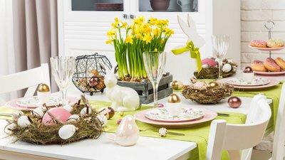 Пасхальный декор и сервировка стола