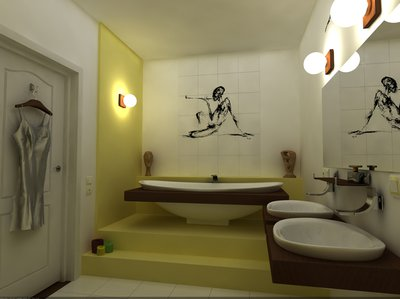Ванная на подиуме-оригинально!