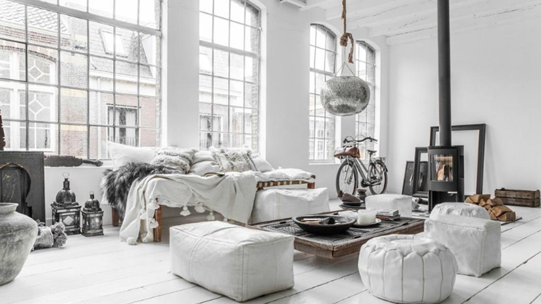Очень крутая спальня в стиле лофт