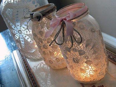 ночник из банки и свечей