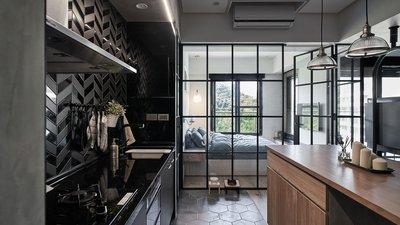 Дизайн черной кухни.