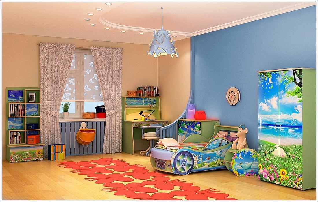 Цветовая гамма в детской должна быть позитивной и радостной.