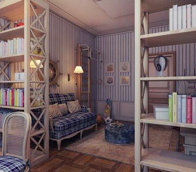 Предложите ребенку сделать комнату тематической, например: каюта корабля.