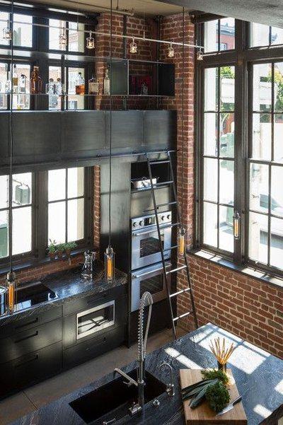 Кухня в стиле loft