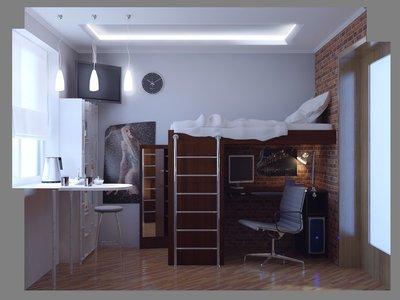 На втором этаже удачно разместится полноценная зона отдыха с телевизором.