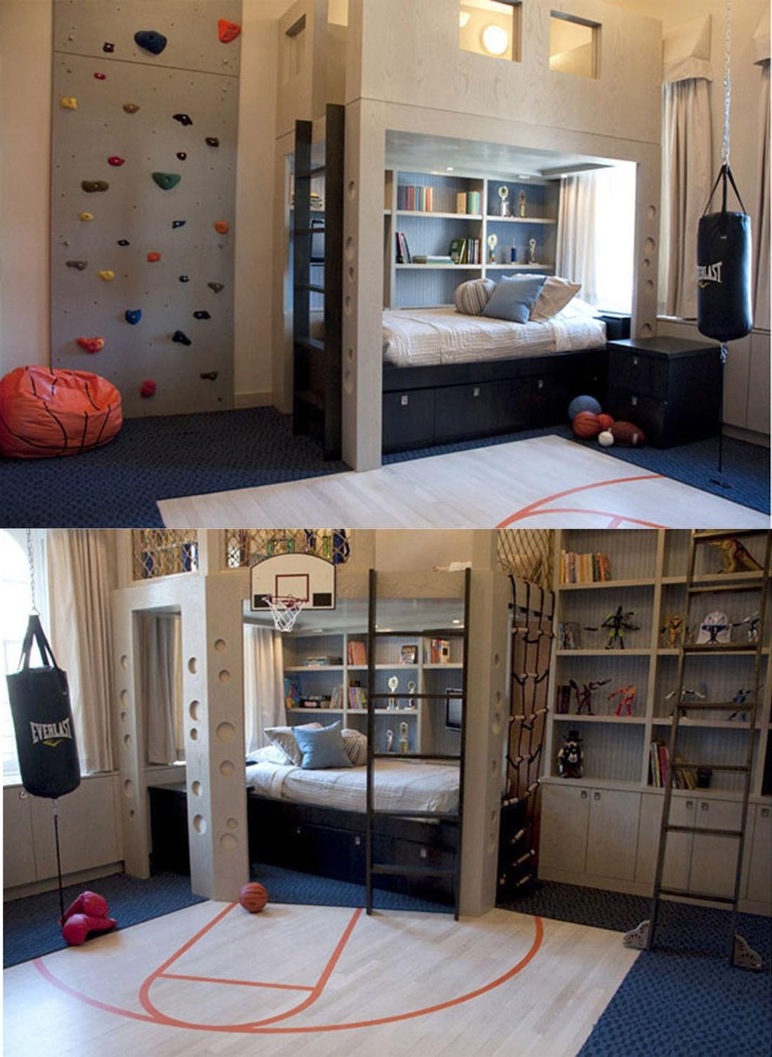 Детская комната с большой игровой зоной