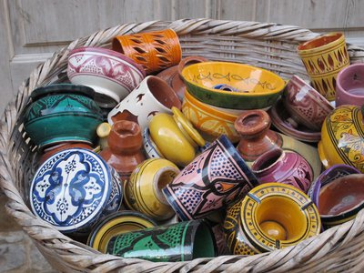 Керамическая посуда в марокканской кухне