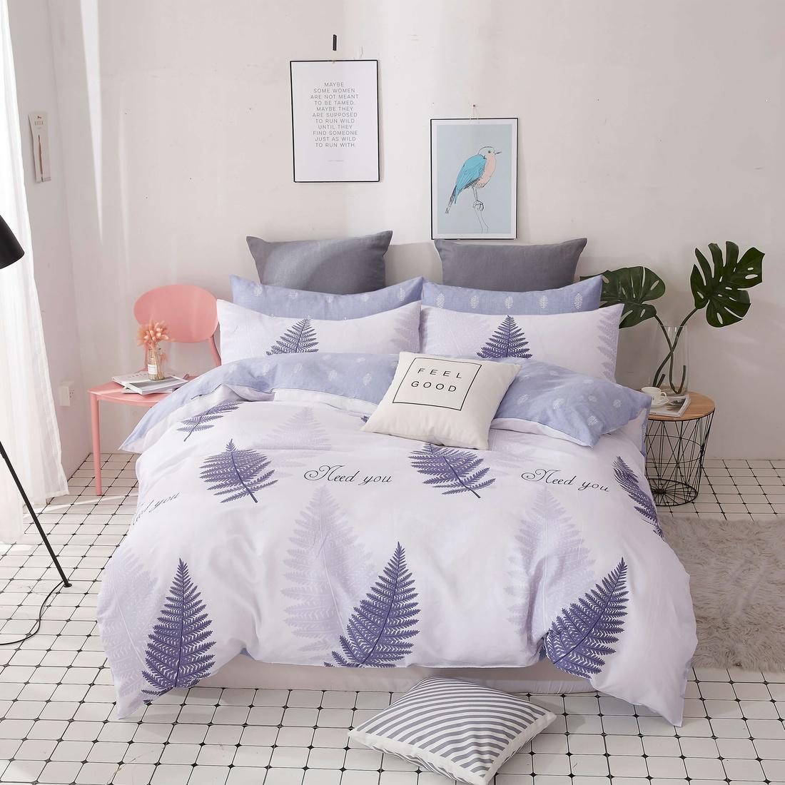Комплект постельного белья «Листья папоротника» страйп-сатин