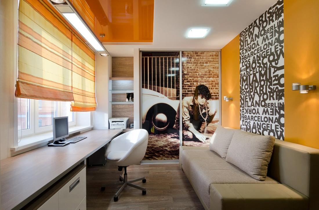 Удобный письменный стол и стул расположите возле окна, чтобы максимально использовать естественное освещение.