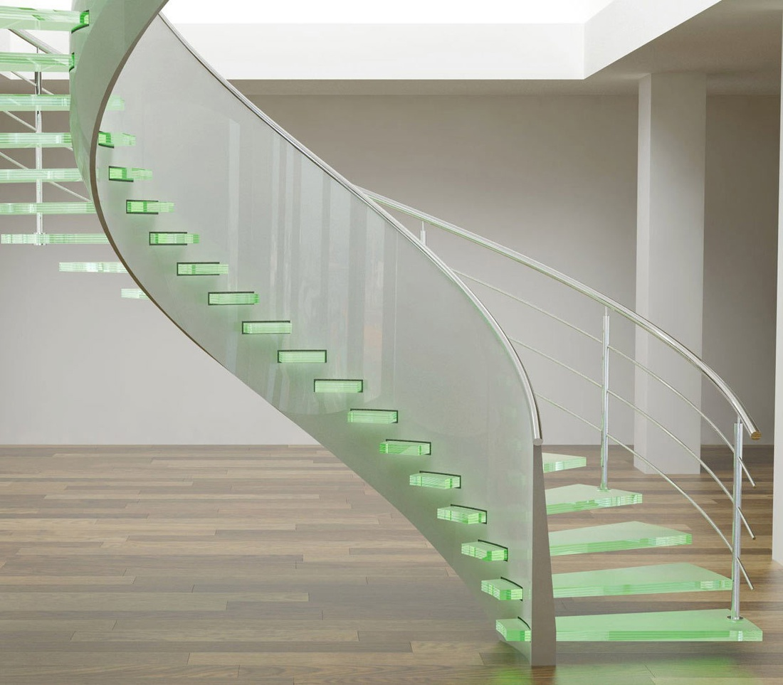 Стеклянные лестницы: на пути к изысканности и современности.