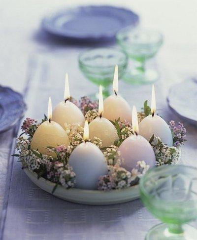 Свечи в виде пасхальных яиц - здорово и празднично!