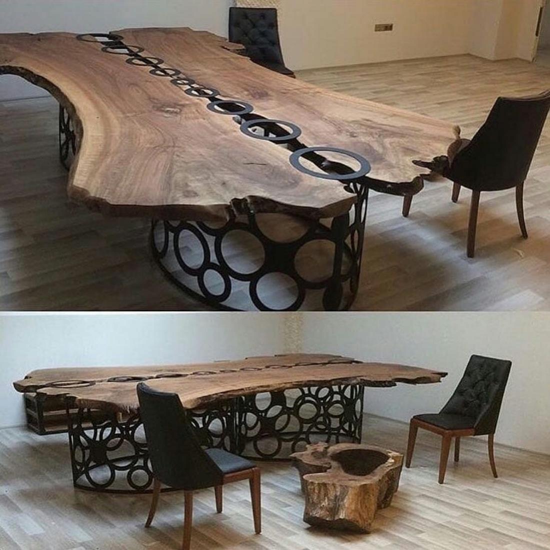 Стол из массива дерева..