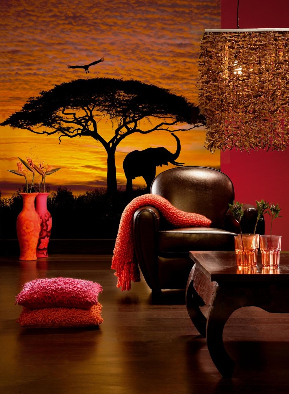 Африканский дизайн интерьера